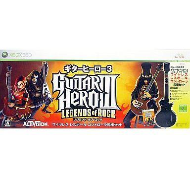 【中古】XBOX360ハード ギターヒーロー3 レジェンド・オブ・ロック[ギターヒーロー3専用レスポールコントローラー同梱版]