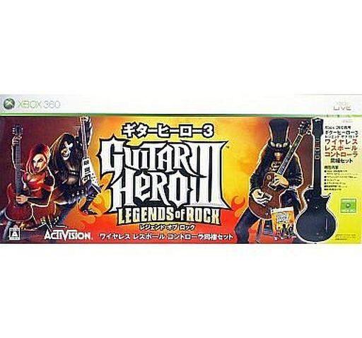 【中古】XBOX360ハード ギターヒーロー3 レジェンド・オブ・ロック[ギターヒーロー3専用レスポールコントローラー同梱版](状態:コントローラ用説明書欠品)