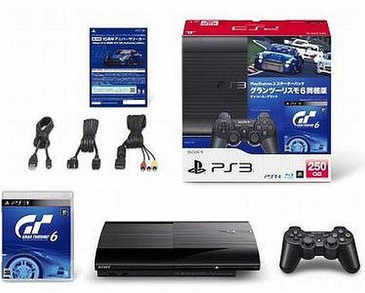 PlayStation 3 Body Charcoal Black (HDD 250 GB) Starter Pack Gran Turismo 6 Included Version [CEJH - 10026] (Condition: Main body condition difficult)