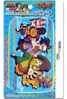 【新品】ニンテンドー3DSハード 妖怪ウォッチ Newニンテンドー3DS専用ポーチ(和柄)