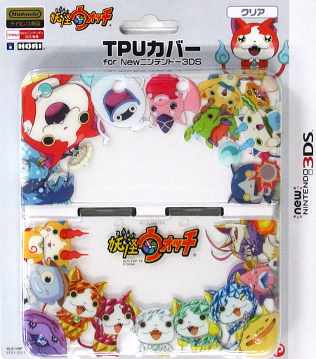 Yo-kai watch TPU cover clear (for New 3 DS)