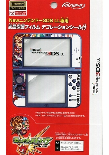 Screen Protector Film with Decoration Seal Monster Strike Kaguchi (Only for New 3 DSLL)
