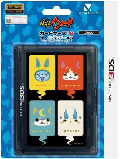 【新品】ニンテンドー3DSハード 妖怪ウォッチ カードケース12 for ニンテンドー3DS ブラック