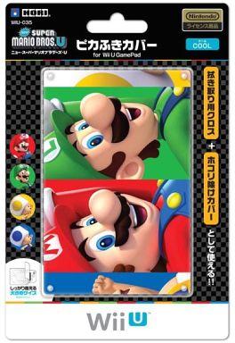 【新品】WiiUハード ピカふきカバー ニュースーパーマリオブラザーズU クール