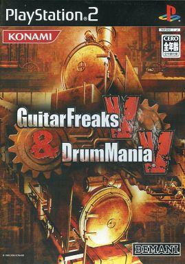 【中古】PS2ソフト ギターフリークスV & ドラムマニアV [特別版] (状態:ピックキーホルダー欠品)
