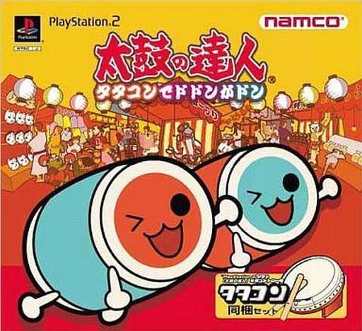 【中古】PS2ソフト 太鼓の達人 タタコンでドドンがドン [タタコン同梱セット](状態:内箱欠品、タタコン説明書・タタコン状態難)