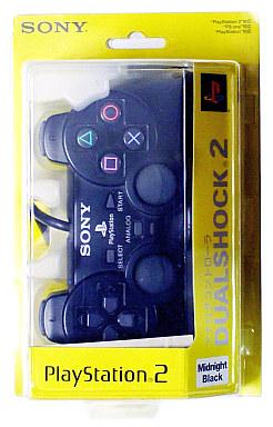 【中古】PS2ハード アナログコントローラ (DUALSHOCK 2) ミッドナイトブラック