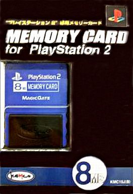 Memory Card (8MB) for PS2 Blue