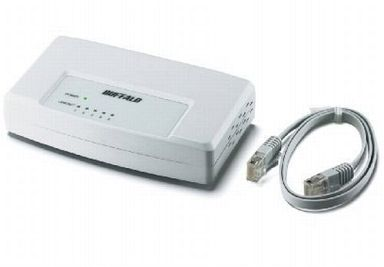10 / 100M 5 port switching hub model with LAN cable [LSW3-TX-5EP / CW]