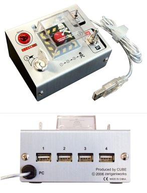 Self-explosion button with sound DX USB 2.0 hub