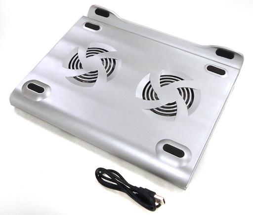 【中古】PCハード DXパソコンスタンド USBファン・HUB付 シルバー(ノートパソコン用)