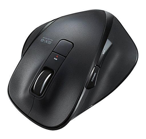 【中古】WindowsXP/Vista/7/8/8.1 ハード 5ボタン BlueLED ワイヤレスマウス EX-G ブラック Lサイズ [M-XG2BBBK]