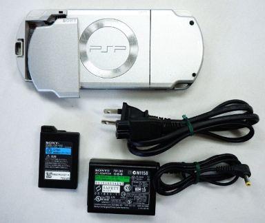 【中古】PSPハード PSP本体 [アイス・シルバー] (状態:箱・説明書欠品/本体状態難)