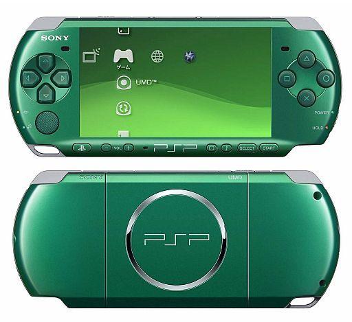 【中古】PSPハード PSP本体 スピリティッド・グリーン (PSP-3000SG) (状態:本体のみ/本体状態難)