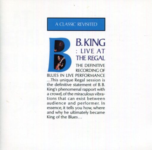 【中古】洋楽CD B.B.キング / ライブ・アット・ザ・リーガル(廃盤)