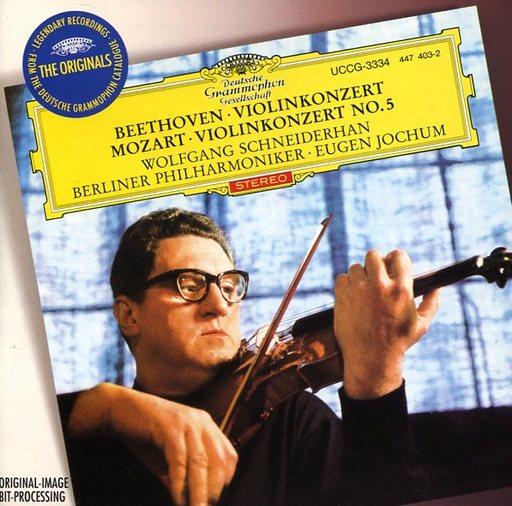 【中古】クラシックCD ヴォルフガング・シュナイダーハン(ヴァイオリン) ベルリン・フィルハーモニー管弦楽団 / ベートーヴェン & モーツァルト:ヴァイオリン協奏曲