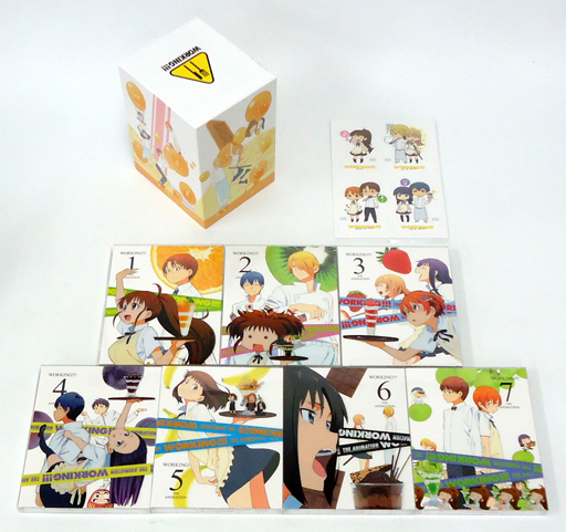 【中古】アニメBlu-ray Disc WORKING!!! 完全生産限定版 全7巻セット(全巻収納BOX+アニメイト特典付き)