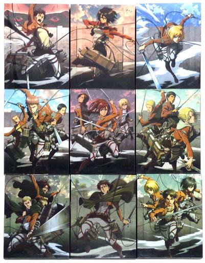 不備有)進撃の巨人 初回版 全9巻セット(状態:コミック・スクールカレンダー欠品)