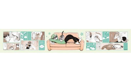 メディコス・エンタテインメント 予約 雑貨 漫画デザイン マフラータオル 「夜は猫といっしょ」