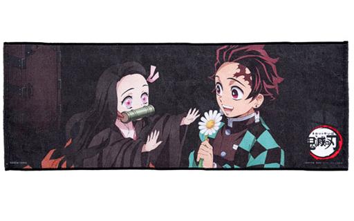 バンダイ 予約 雑貨 炭治郎&禰豆子B ポートレイトフェイスタオル 「鬼滅の刃」