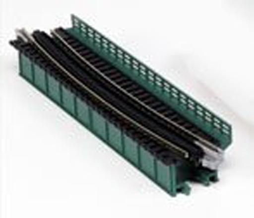 【新品】Nゲージ(レール) 1/150 単線デッキガーダー 曲線鉄橋R448-15°(緑) 「ユニトラック」 [20-466]