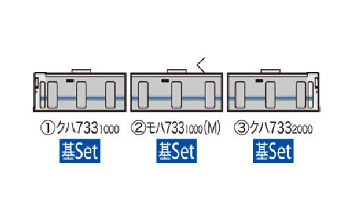 【新品】Nゲージ(車両) 1/150 JR 733 1000系近郊電車 はこだてライナー 3両基本セット [98240]