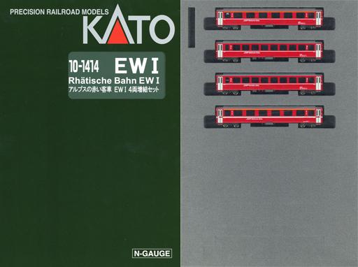 【予約】Nゲージ(車両) 1/150 アルプスの赤い客車 Ew I 4両増結セット [10-1414]