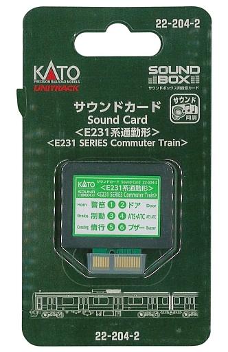 KATO(カトー) 新品 鉄道模型 サウンドカード(E231系通勤形) [22-204-2]