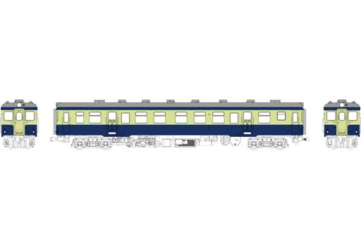 TRAMWAY(トラムウェイ) 予約 鉄道模型 HOゲージ 16番 1/80 キハ20 バス窓(色:青、黄褐) 台車DT19、動力付 [TW-K20AM-1]