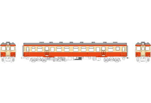 TRAMWAY(トラムウェイ) 予約 鉄道模型 HOゲージ 16番 1/80 キハ20 バス窓(色:朱、クリーム) 台車DT19、動力なし [TW-K20AT-2]
