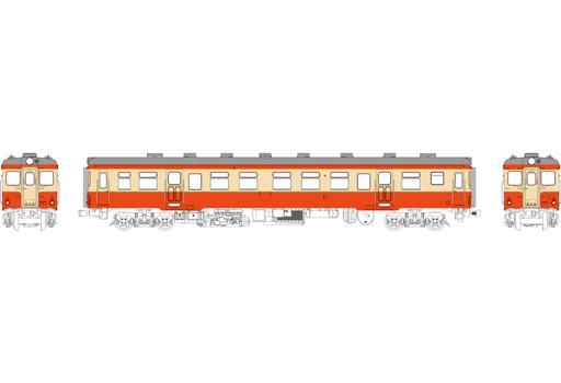 TRAMWAY(トラムウェイ) 予約 鉄道模型 HOゲージ 16番 1/80 キハ20 バス窓(色:朱、クリーム) 台車DT22、動力なし [TW-K20BT]