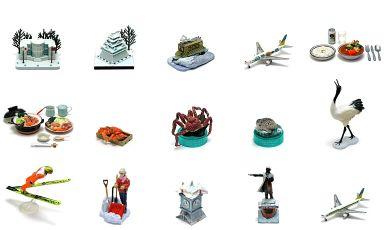 【中古】トレーディングフィギュア 全15種セット 「フィギュア版 冬の北海道大物産展」 2006年 サッポロビール コンビニ限定キャンペーン品