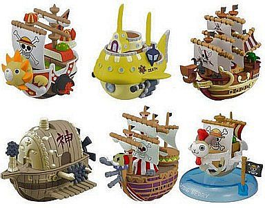 "All 6 types ""One Piece Yurayura Pirate Ship Collection 3"""