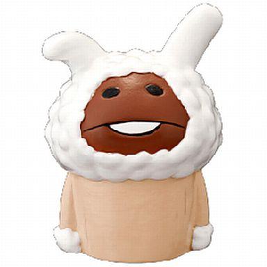 【中古】トレーディングフィギュア 白ウサギなめこ 「おさわり探偵 なめこ栽培キット ソフビパペットマスコット」