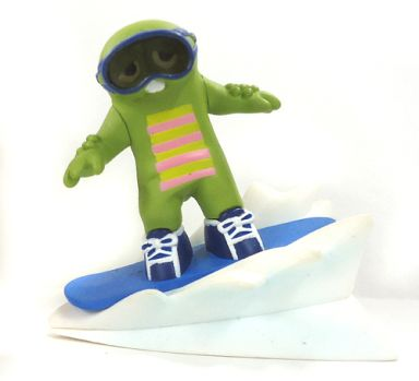 【中古】トレーディングフィギュア スノーボード(青) 「ガチャピンチャレンジ」
