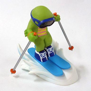 【中古】トレーディングフィギュア スキー(青) 「ガチャピンチャレンジ」
