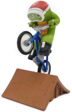 【中古】トレーディングフィギュア BMX(自転車:青) 「ガチャピンチャレンジ4」