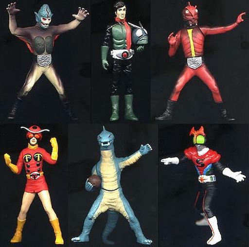 【中古】トレーディングフィギュア 全6種セット 「HG 仮面ライダー5 トカゲロンと怪人大軍団編」