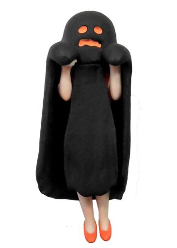 【中古】トレーディングフィギュア オバケのフチ子(ブラック) 「コップのフチ子 ハロウィーン」