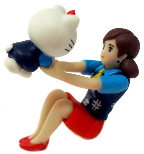 【中古】トレーディングフィギュア あんよのキティちゃん 「コップのフチ子とGOTOCHI KITTY」 静岡限定版