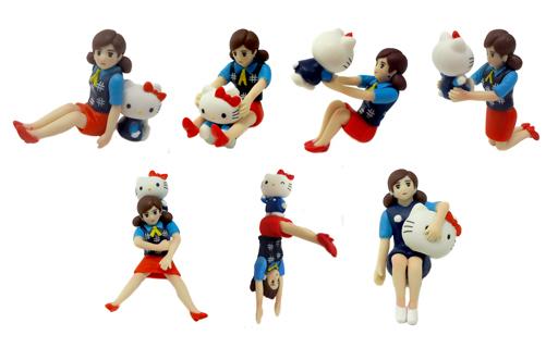 【中古】トレーディングフィギュア 全7種セット 「コップのフチ子とGOTOCHI KITTY」 静岡限定版