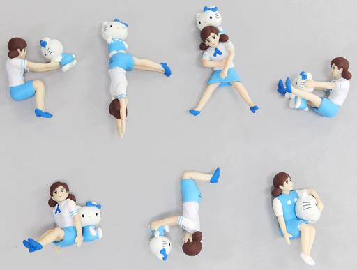【中古】トレーディングフィギュア 全7種セット 「コップのフチ子とGOTOCHI KITTY」 横浜限定