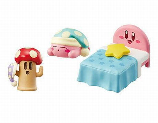 "8. In a fluffy Kirby bed quickly ""Kirby's Dream Land Happy Kirby Room"""