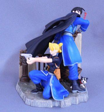 【中古】フィギュア [単品] ロイ&リザ 「鋼の錬金術師 ブックインフィギュア BLUE」 同梱品