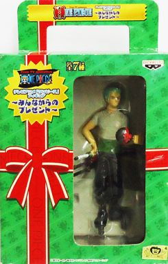 【中古】フィギュア ゾロ「ワンピース」フィギュア?みんなからのプレゼント?