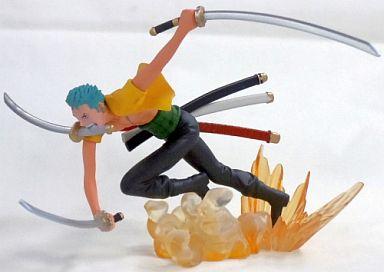 ゾロ「ワンピース」連携技フィギュア~ゴムゴムの悪魔風三刀流羊肉JET六百煩悩攻城砲~