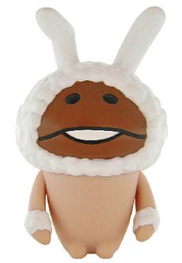 【中古】フィギュア 白ウサギなめこ 「おさわり探偵なめこ栽培キット」 ソフビコレクション