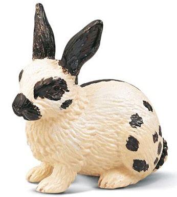 ウサギ(白黒) 「Schleich-シュライヒ-」 NO.13121