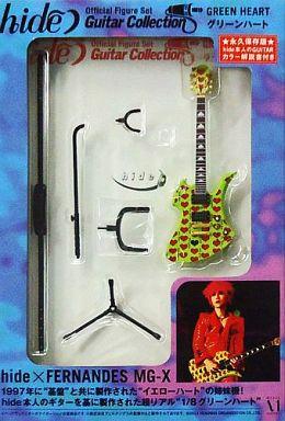 【中古】フィギュア グリーンハート Official Figure set 「hide Guitar Collection」 1/8 ディスプレイモデル