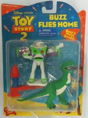 【中古】フィギュア Buzz Flies Home -バズ・ライトイヤー&レックス- 「トイ・ストーリー2」 アクションフィギュア